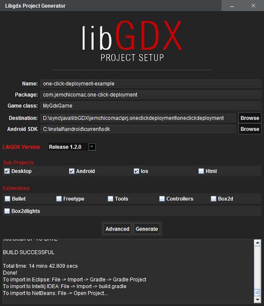LibGDX Project Generator